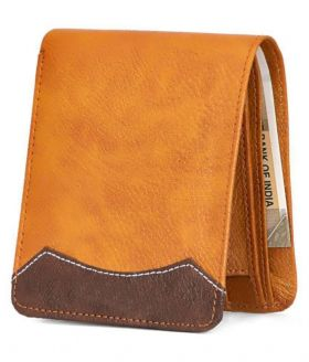 Leather Tan Regular Wallet